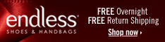 Free Overnight Shipping at Endless.com