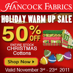 Hancock Fabrics - Save 15% Off ANY Purchase! Ends