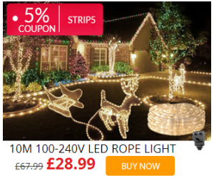 57% Off + 5% Coupon on LED Ropelight at lightingever.co.uk