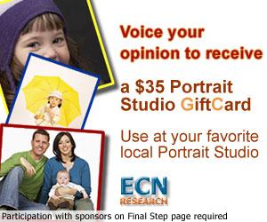 Recieve a $35 Portrait Studio GiftCard