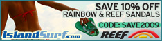 Special deal on all Reef Sandals for Summer