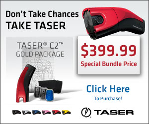 2 Free Cartridges with the purchase of a TASER C2