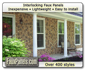 Do it yourself stone siding panels