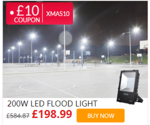 Save £10 on Outdoor Security Floodlight at lightingever.co.uk