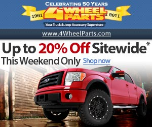 4 Wheel Parts Up to 15% Off Sitewide