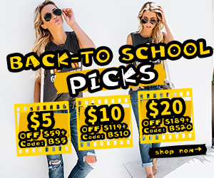 BACK-TO-SCHOOL Best Selection! Grab Smart Savings on Fashion Essentials!Grab Vouchers: BS5 BS10 BS20