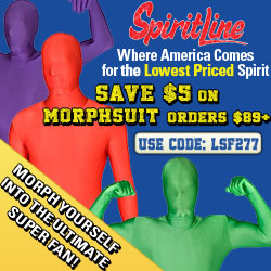 Save $5 on Morphsuit orders $99+ at SpiritLine!