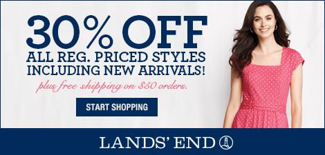 Lands' End 30% off Reg