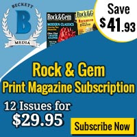 Beckett Rock & Gem Print Magazine Subscription