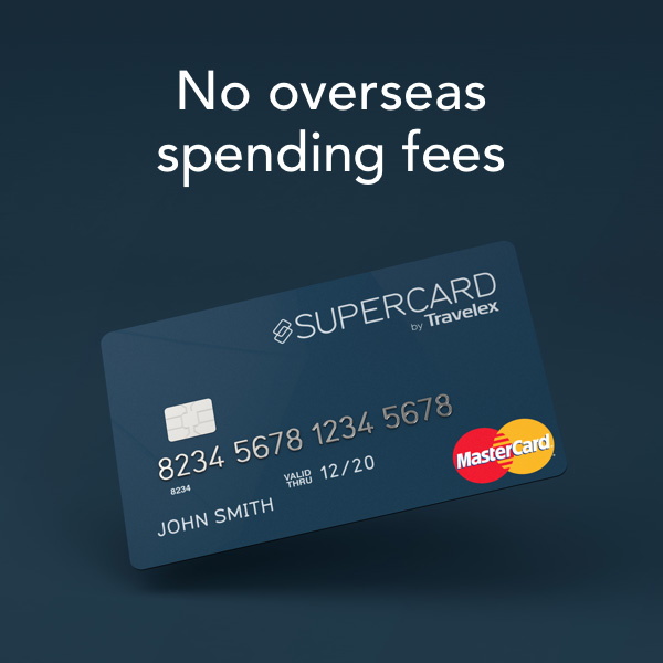 Supercard for no overseas spending fees