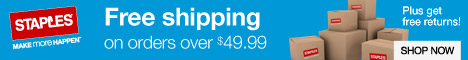 Fast and Free Shipping on most orders over $50 at Staples.com.