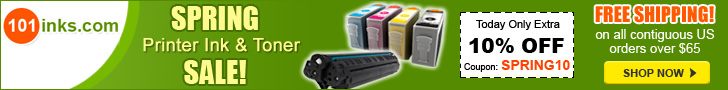 Up to 85% off Printer Ink and Toner, Plus save 10% with code WNTR10