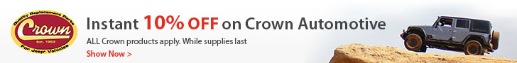 All Crown Automotive products are now 10% OFF!