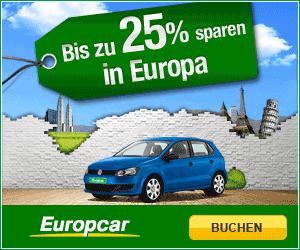 Online buchen und bis zu 25% sparen in Europa