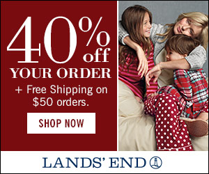 40% off everything in your order at Lands' End.