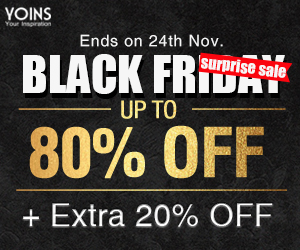 Up to 80% off +Extra 20% off for Black Friday super sale