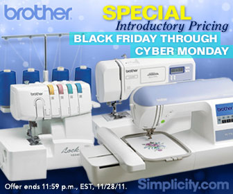 10%-40% off Brother Sewing Machines Simplicity.com
