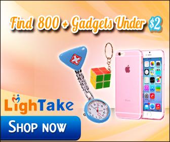 800+ gadgets under $2 at LighTake.com!