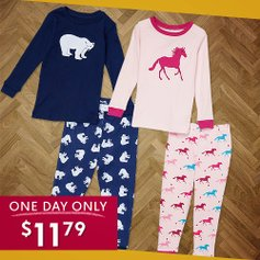 all items $11.79 Sleepwear Steals: Baby to Adults