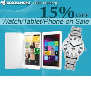 Up to 15% OFF For Tablet/Cell Phone/Watch, Free Shipping.