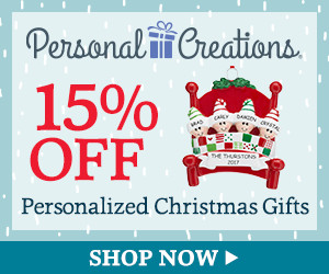 15% off Personalized Christmas Gifts & Decor from Personal Creations (300 x 250)