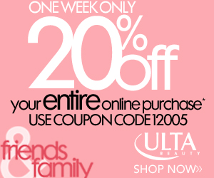 One Week Only! Take 20% OFF your entire purchase