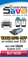 Get 20% off all orders $100+ at CompAndSave