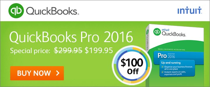 QuickBooks Pro 2016 Software – Enjoy $100 off! Save Time & Get Organized!