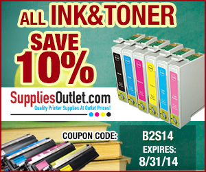 10% Off Ink and Toner cartridges