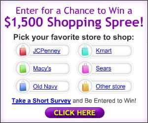 Win a $1500 Shopping Spree