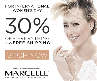 30% Off + Free Shipping for International Woman's Day from March 8th to March 14th 2016