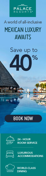 Palace Resorts 30% off banner at Sun Palace