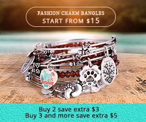 Fashion Charm Bangles, Buy 2 save $3, Buy 3+ save $5 at Soufeel.com