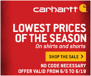 Lowest Prices of the Season on Carhartt!