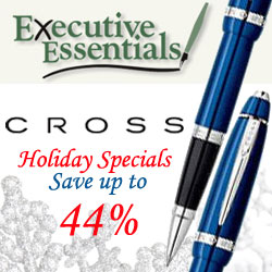 HOLIDAY 09- Shop Cross Pen Holiday Specials