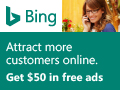 Search Advertising sign up page