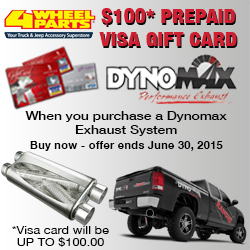 Purchase a Dynomax Exhaust System and get a $100 Prepaid Visa