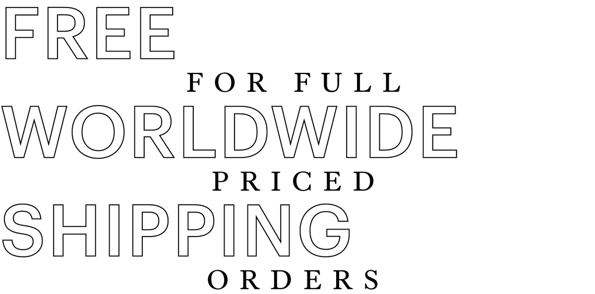 Free Worldwide Shipping for Full Priced Orders