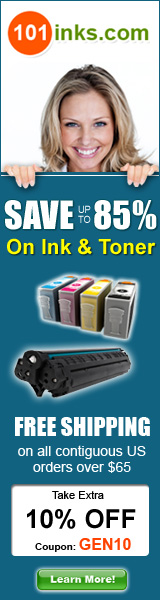Up to 85% off Printer Ink and Toner, Plus Save 10% with code GEN10