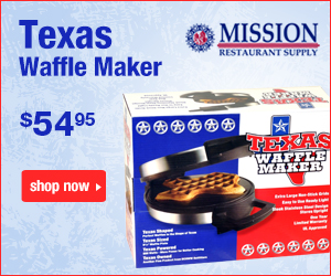 Texas Shaped Waffle Maker $58.95at MissionRS.com