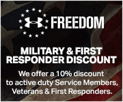 10% Off for Military, Veterans & First Responders