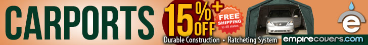 EmpireCovers 15% Off Carports