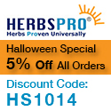 HerbsPro Halloween Special - Save 5% on all orders