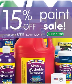 Save 15% Off Paint During Our Fall Sale At Discount School Supply!