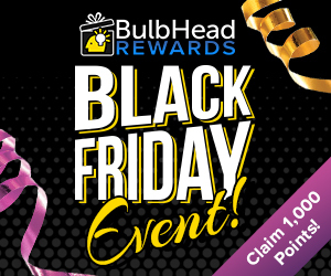 Image for Bulbhead Black Friday 300x250