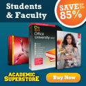 Students save up to 75% on software