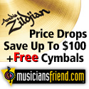 Zildjian Price Drops at MusiciansFriend.com