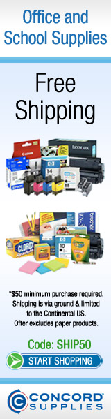 Concord Supplies 160x600 Free Shipping Coupon