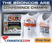 Shop Denver Broncos 2013 AFC Champion gear at Fanatics.com!