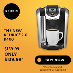 Sale! The New Keurig 2.0 K400 for $139.99